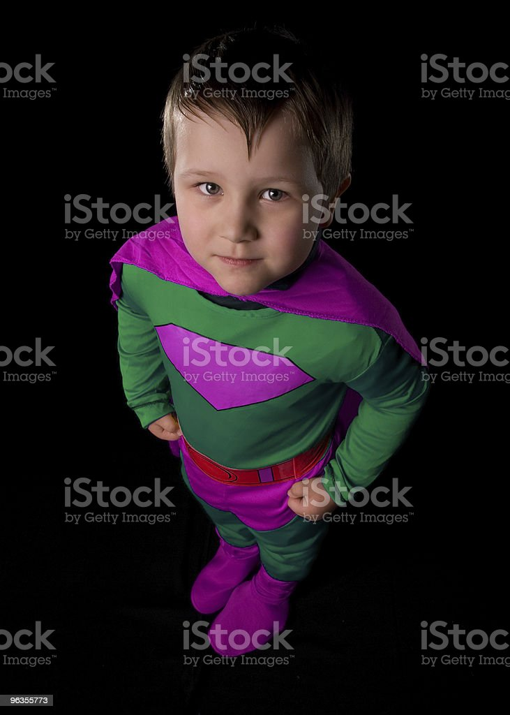 Young Superhero royalty-free stock photo