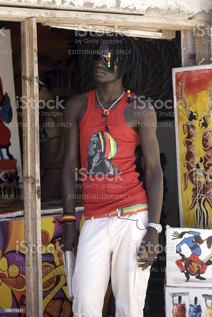 Young Swahili man, Kiwengwa, Zanzibar, Tanzania foto