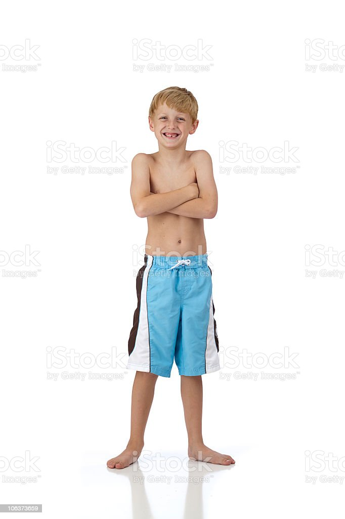 Young Swimmer Smiling royalty-free stock photo