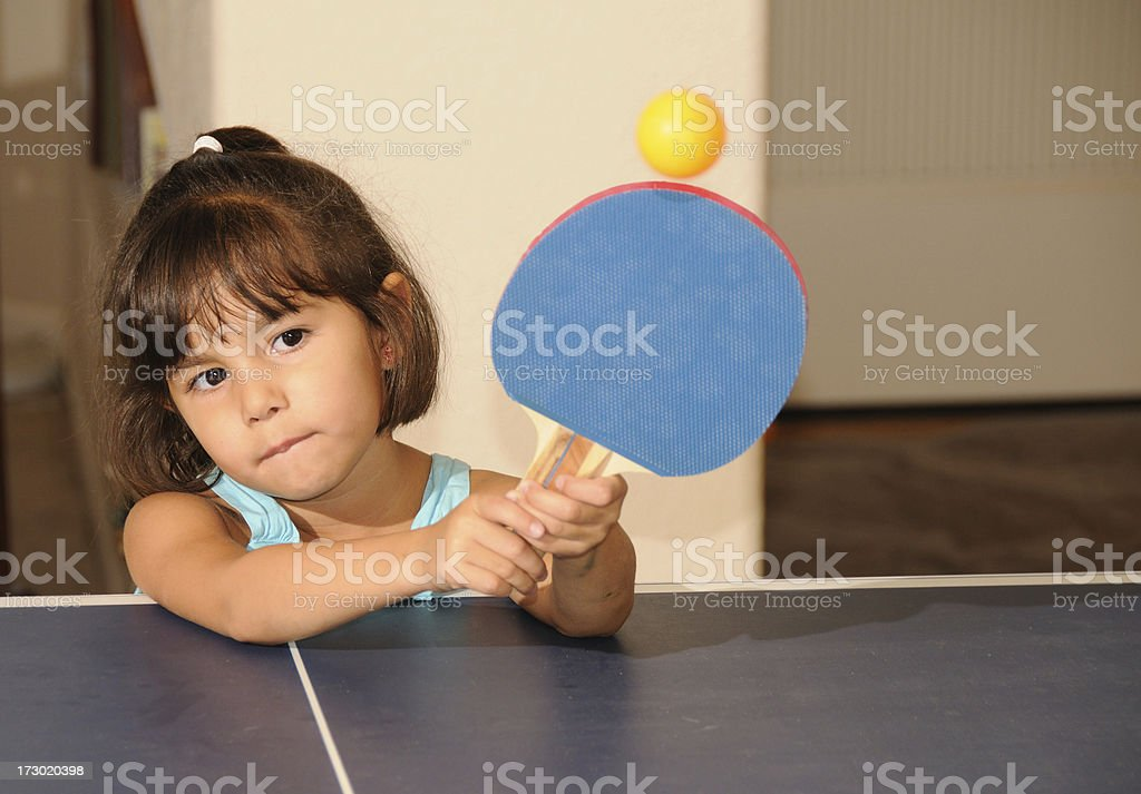 Young Table Tennis Girl royalty-free stock photo