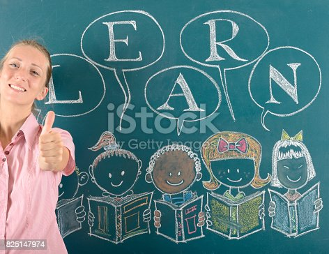 1069581886 istock photo Young teacher and back to school concept 825147974