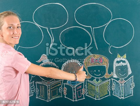 1069581886 istock photo Young teacher and back to school concept 825147976
