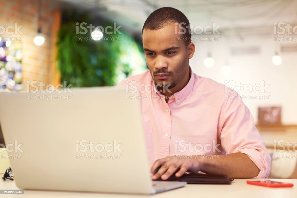 Young teacher and student from followers using laptop computer connected to free 5G wireless stock photo