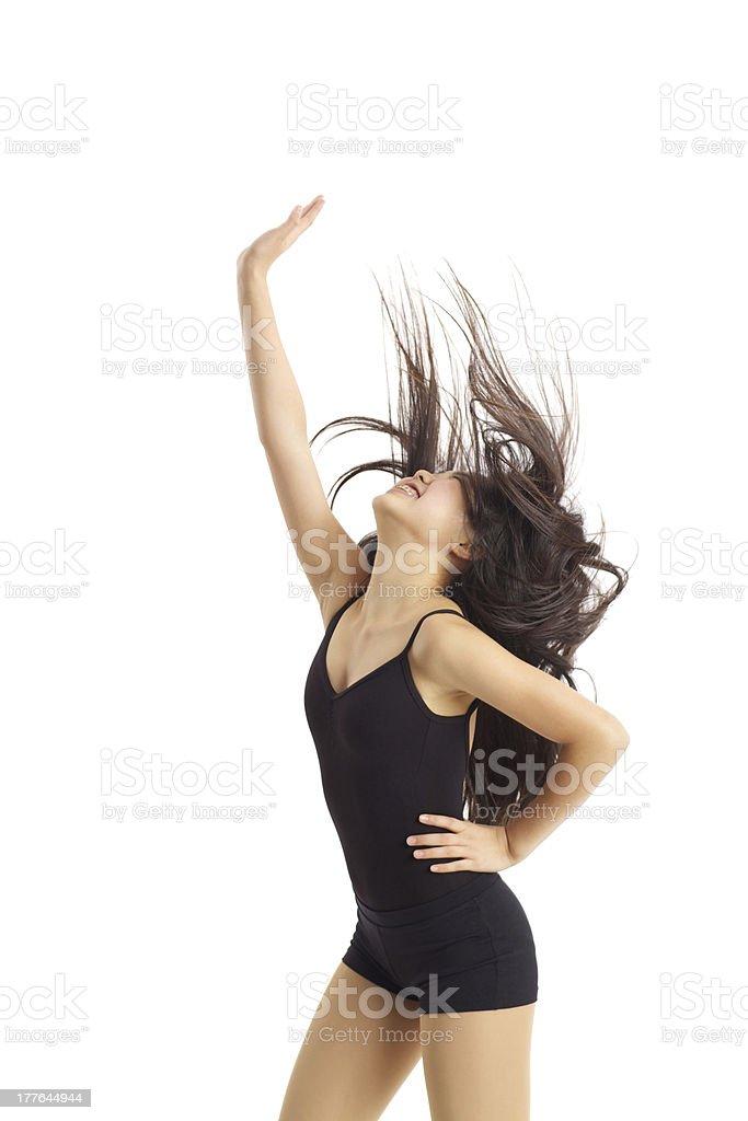 Dancing teen