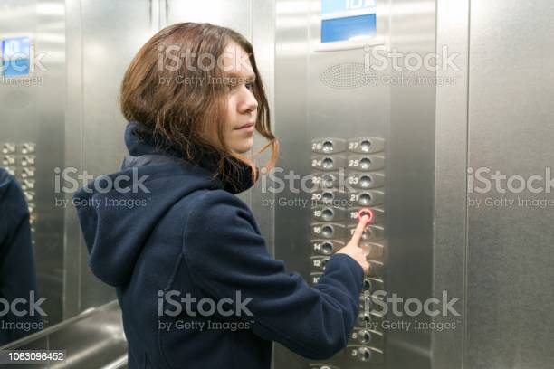 Young teen girl in the elevator presses the elevator button picture id1063096452?b=1&k=6&m=1063096452&s=612x612&h=choqs ln9ko9jb fawxohusv08nbvz1b1rzbfhfek0o=