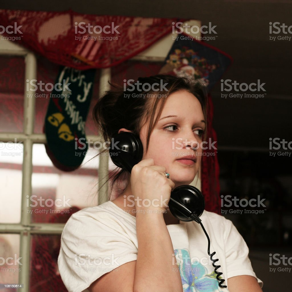 young teen on the phone royalty-free stock photo