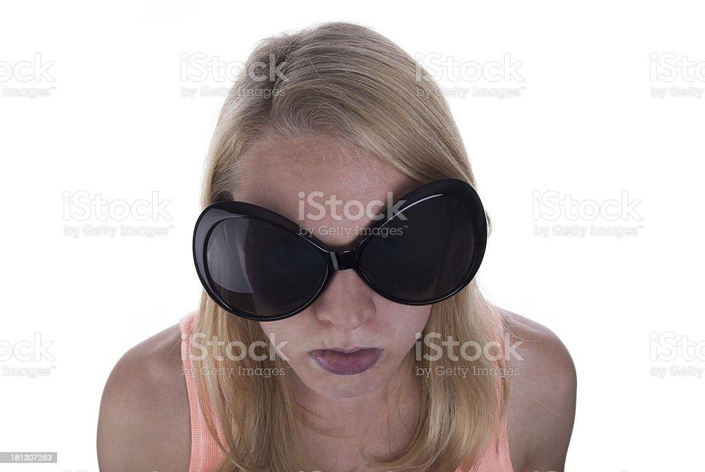 Young Teen Sulking stock photo