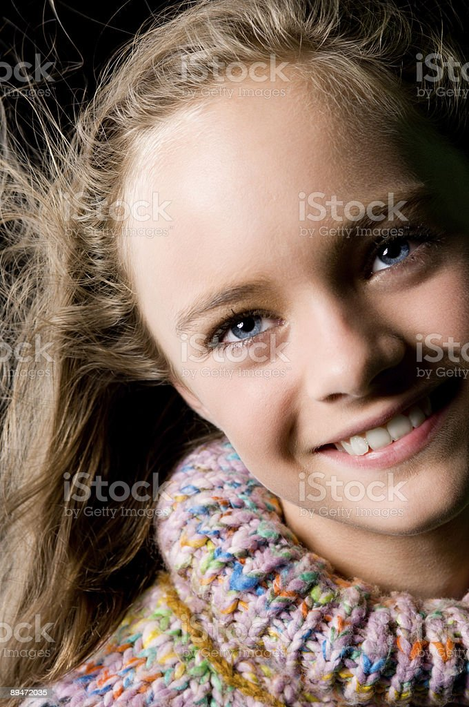 Young teenager looking up royalty-free stock photo