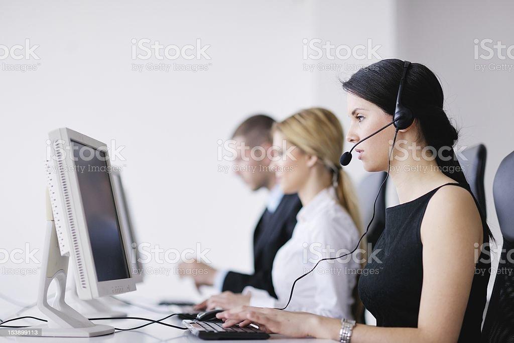 Geschäft Leute Gruppe Arbeiten in Kunden- und helpdesk Büro – Foto