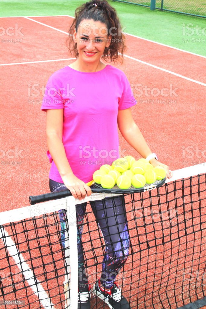 young tennis coach woman shooting - Royalty-free Adulto Foto de stock