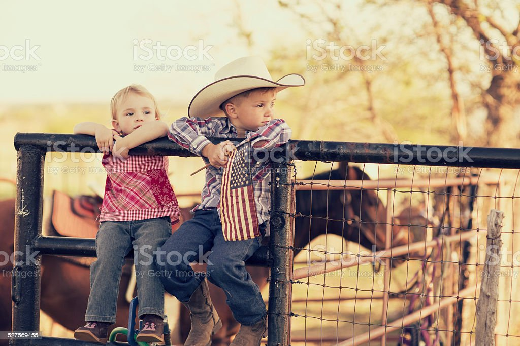 Young Texas Children stock photo