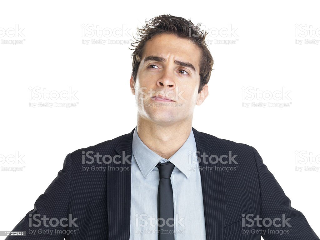 Young thoughtful man royalty-free stock photo