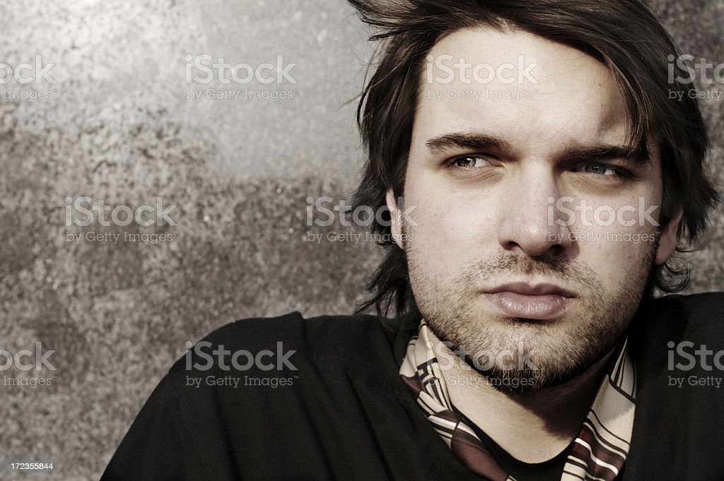 Young, tired man. royalty-free stock photo