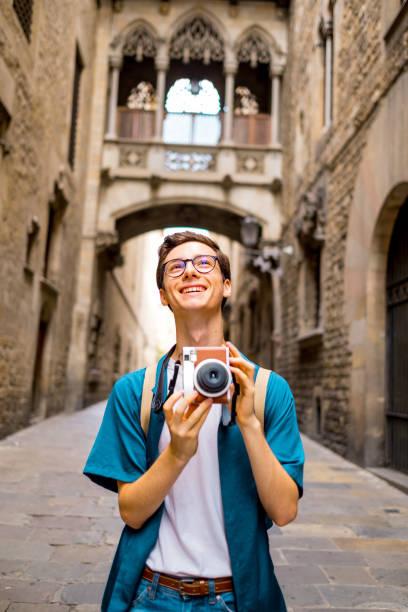 Junge Touristen in Barcelona – Foto