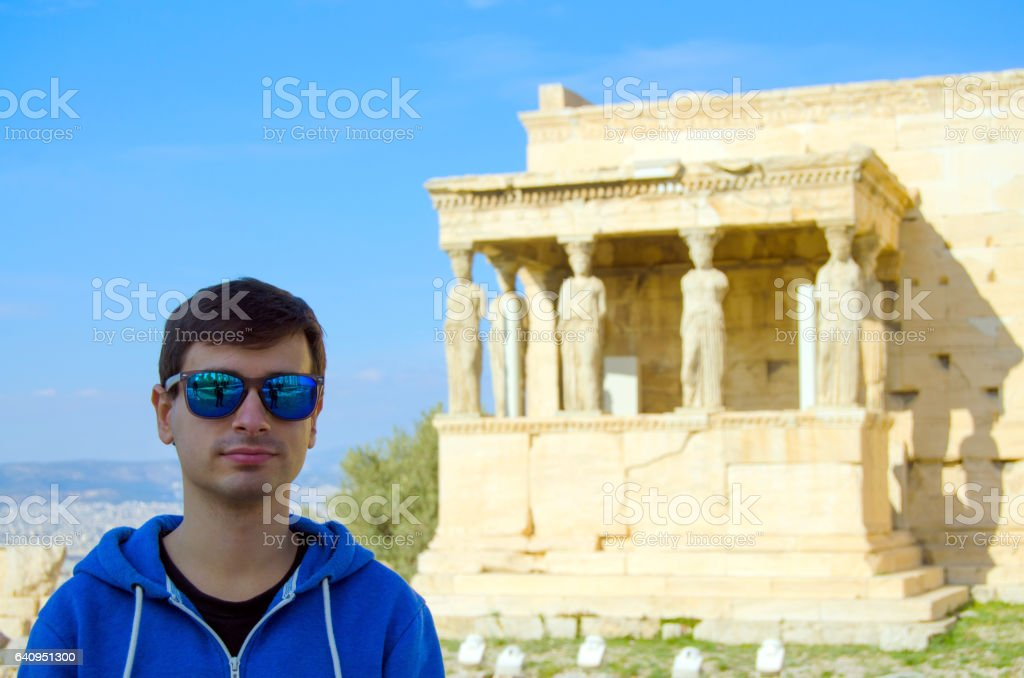 Young tourist stock photo