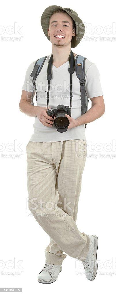 젊은 여행자 카메라 royalty-free 스톡 사진