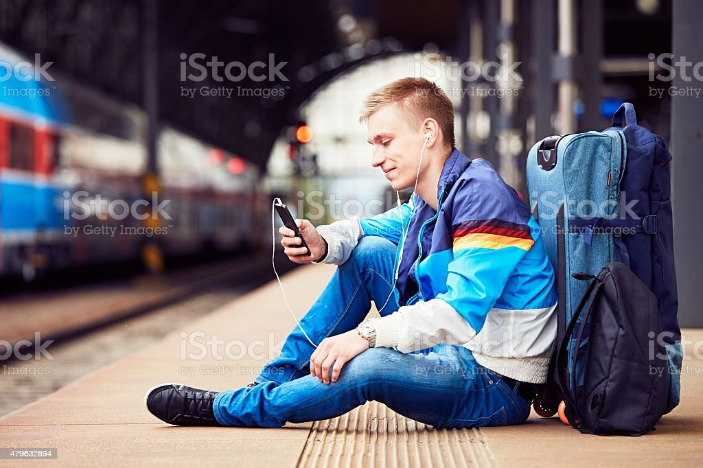 Young traveler stock photo