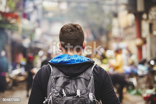 istock Young traveler 504827030