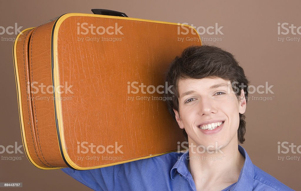 Young traveller with suitcase royalty-free stock photo