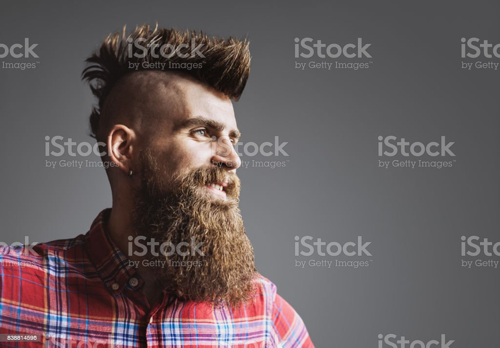 Young trendy man portrait stock photo
