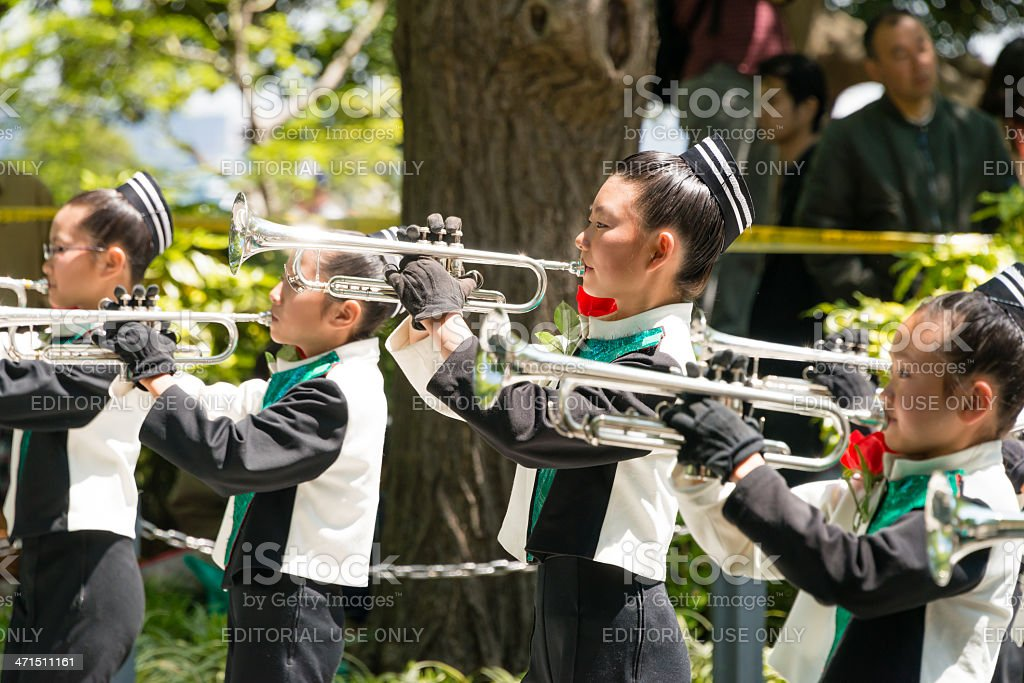 Young trumpeters royalty-free stock photo