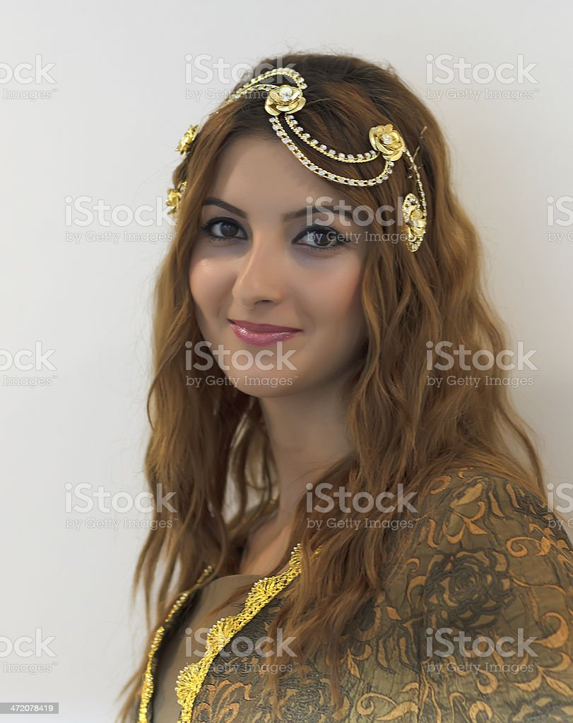 Young Turkish Women In Traditional Wedding Dress Stock Photo
