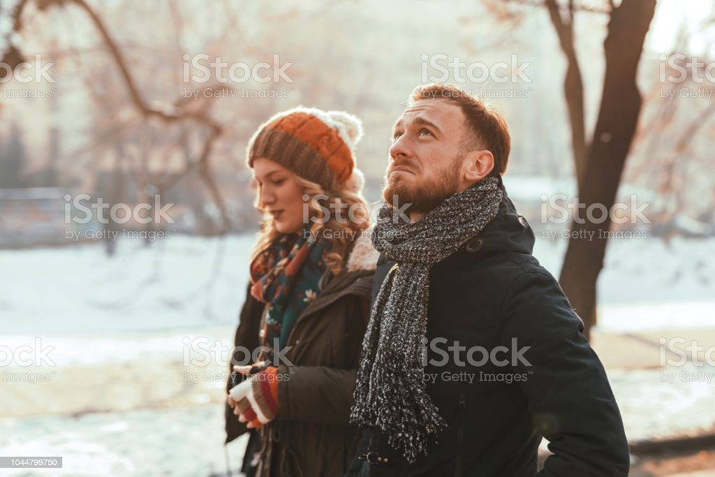 Young Unhappy Couple royalty-free stock photo