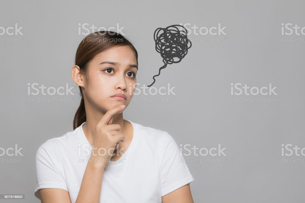 Young unsatisfying woman. royalty-free stock photo