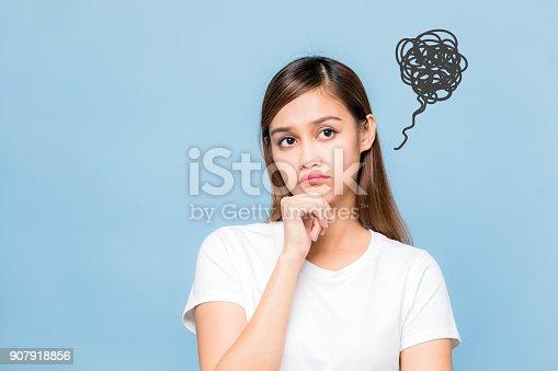 istock Young unsatisfying woman. 907918856