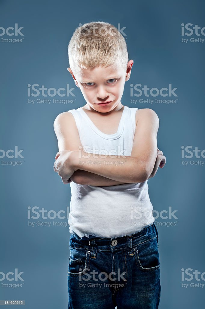 Young upset child royalty-free stock photo