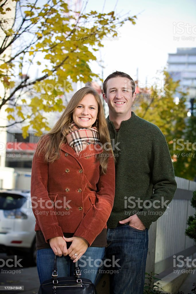 young urban married couple royalty-free stock photo