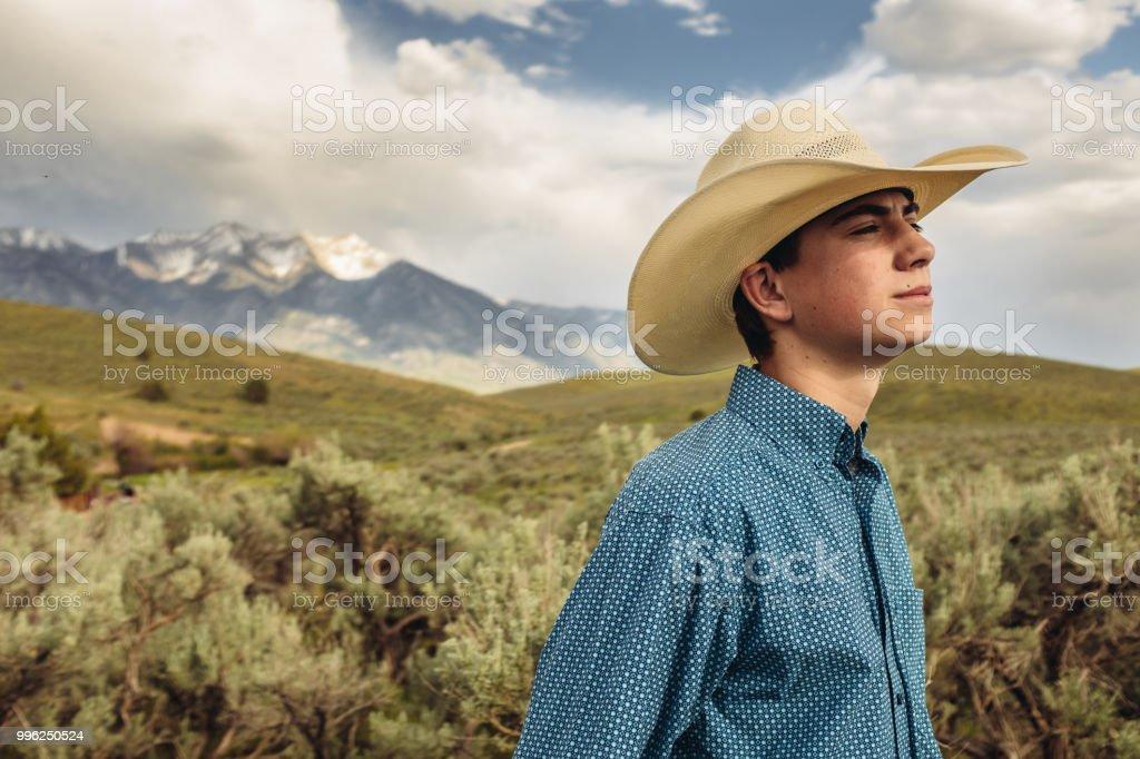 Young Utah Rancher stock photo