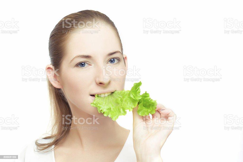 Young vegan royalty-free stock photo