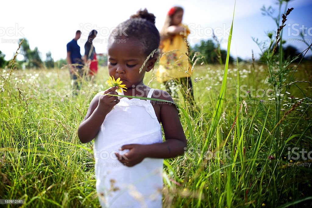 young vibrant african american girl child royalty-free stock photo