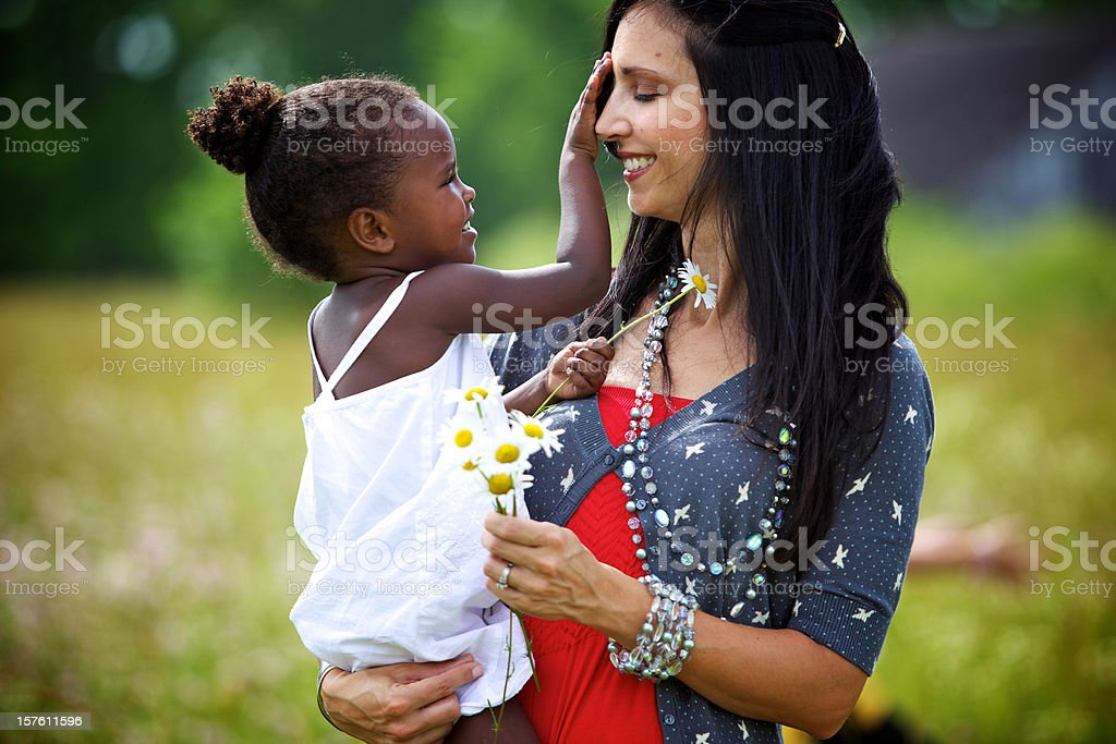 young vibrant ethnic diverse family royalty-free stock photo