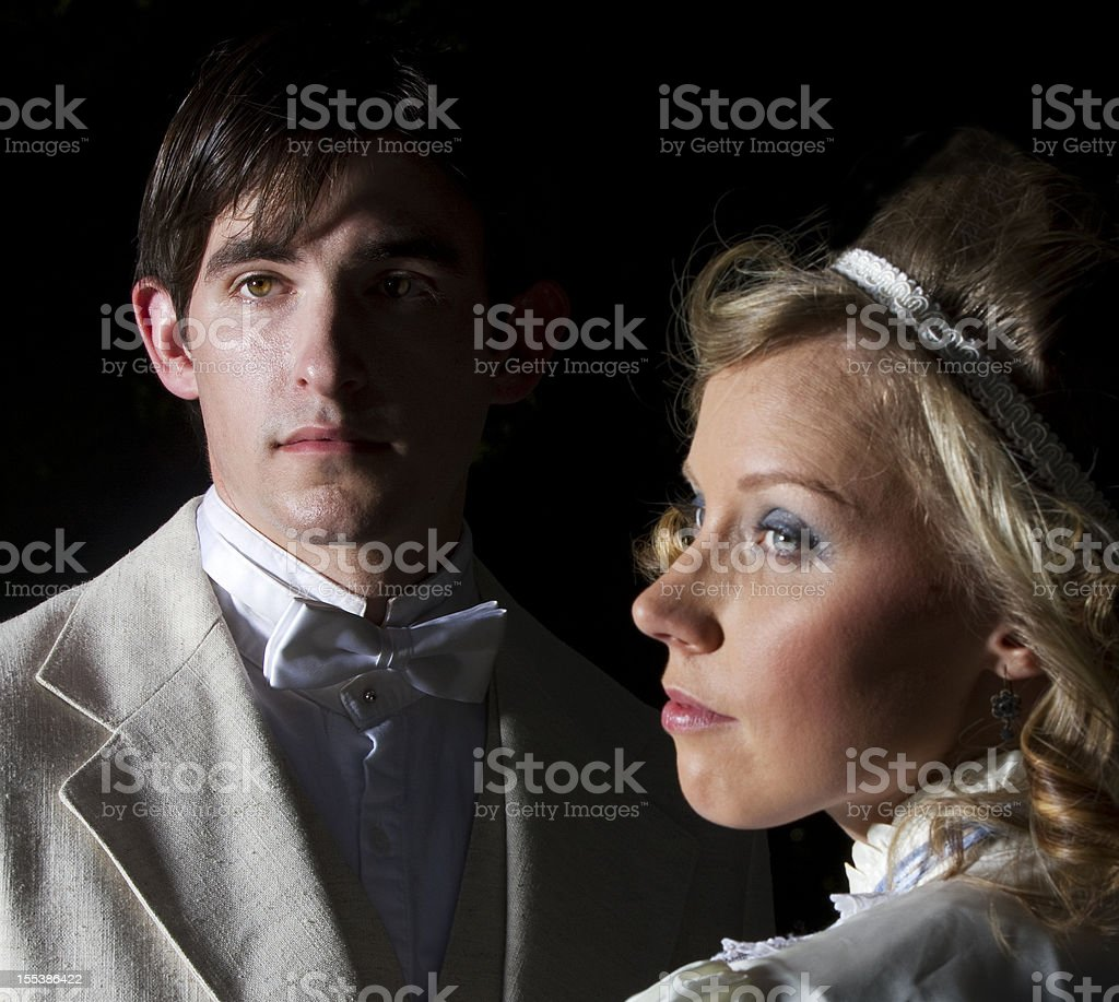 Young Victorian Couple royalty-free stock photo