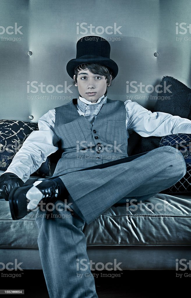 Young Victorian Guy royalty-free stock photo