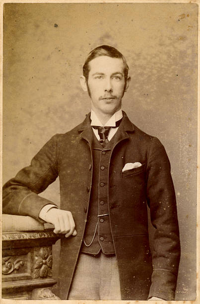 Young Victorian Man Old Photograph