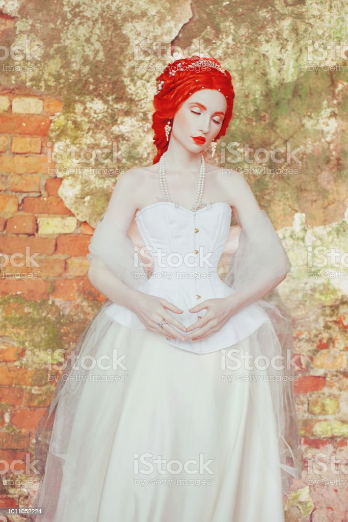 Young Victorian Princess With Hairstyle In Castle Fabulous Rococo