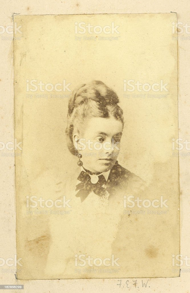 Young Victorian Woman royalty-free stock photo