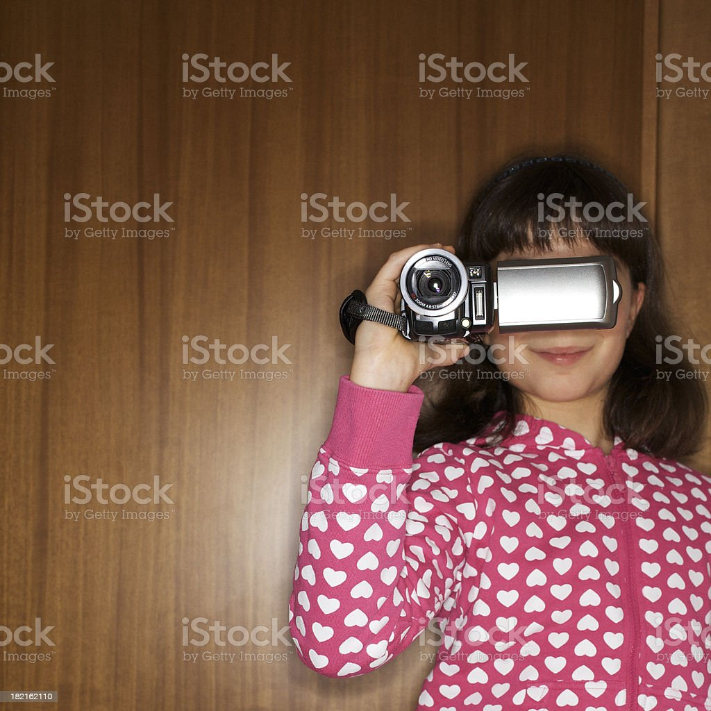 young videomaker stock photo