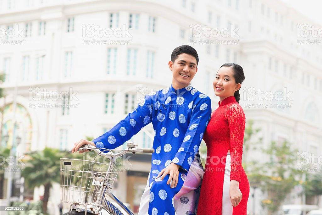 Young Vietnamese couple stock photo