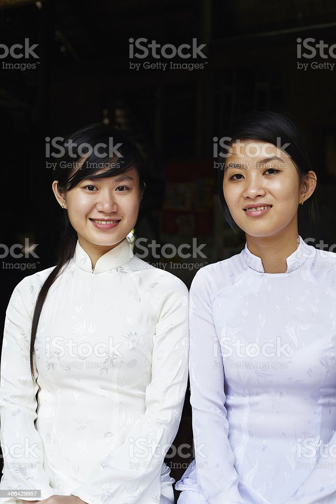 Young Vietnamese women stock photo