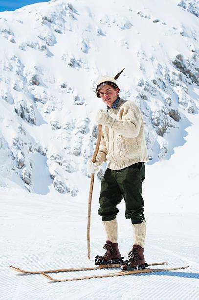 Young vintage skier posing in the mountains picture id185286993?b=1&k=6&m=185286993&s=612x612&w=0&h=lgj5alidklsartomva6gyln9rbtm4ardnjkp 7fiecs=
