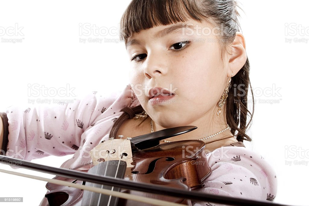Young Violin Student royalty-free stock photo