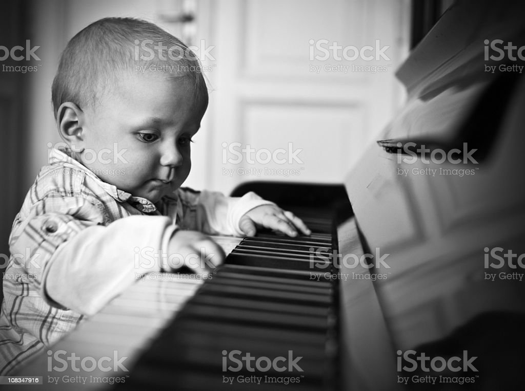 Young virtuoso royalty-free stock photo