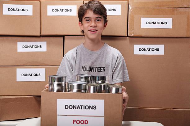 Young Volunteer stock photo