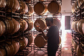 istock Young winemaker tasting wine at cellar 1171693330