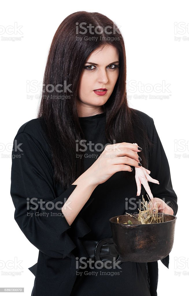 Young witch royalty-free stock photo