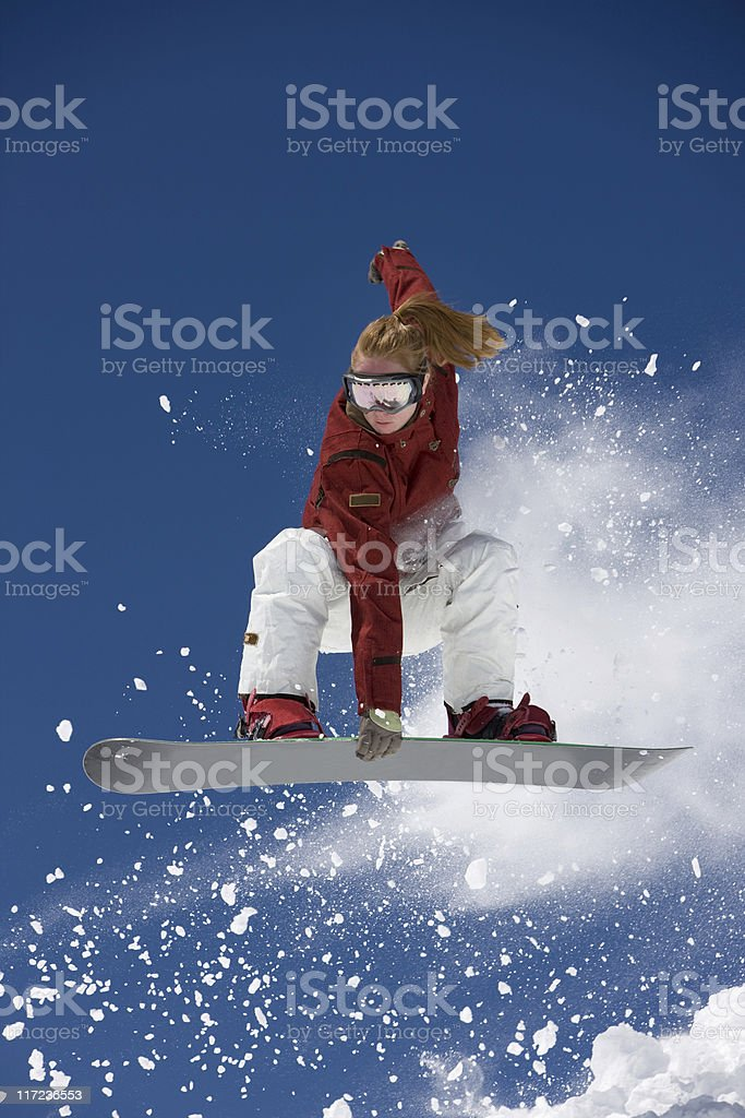 Young Woman Airborne royalty-free stock photo